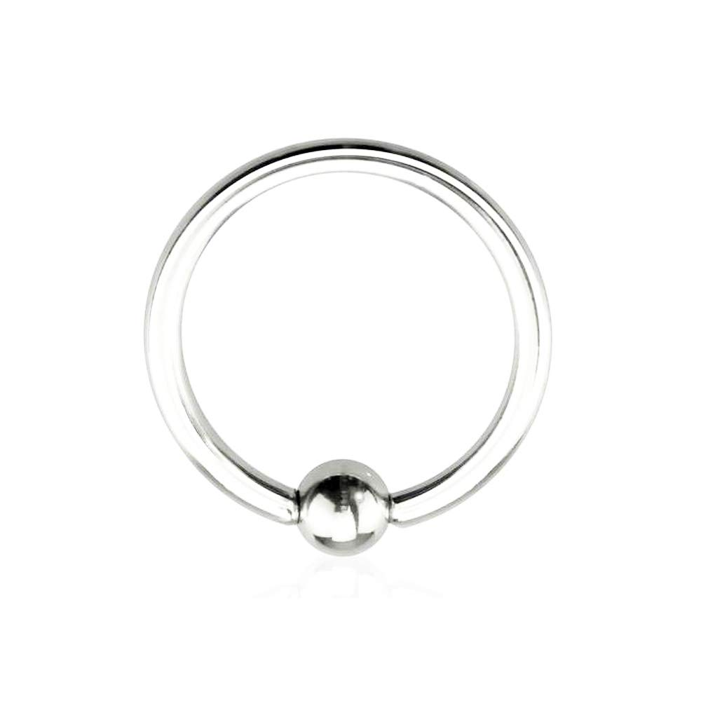 Dynamique Basic Captive Bead Rings from 20g to 00g 316L Surgical Steel