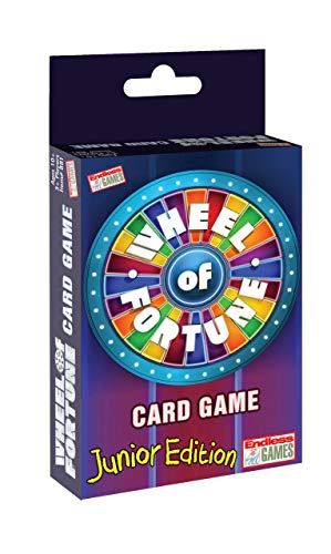Endless Games Wheel of Fortune Card Game - Junior Edition - Travel Sized Party Game