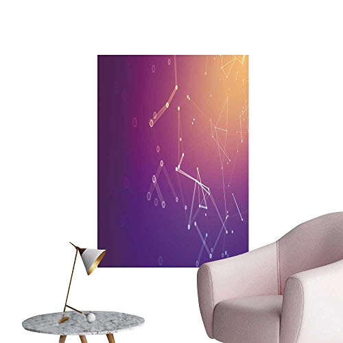 SeptSonne Wall Painting Polygonal Space Low Poly backgroun Connect dots High-Definition Design,32