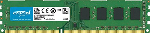 Crucial 4GB Single DDR3L 1600 MT/s (PC3L-12800)  Unbuffered UDIMM  Memory CT51264BD160B -