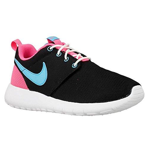 Nike Youth Roshe One (Black/Gamma Blue/Pink Blast)(6 M US Big Kid) (Boys Nike Roshe Size 6)