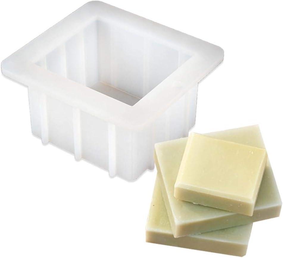 rechteckige handgemachte Seifenform Silikon-Toastform DIY Backenwerkzeuge Kitabetty Silikon-Seifenform zur Herstellung von Schokoladen-Aromatherapie-Steinen 14/×13/×7,3 cm