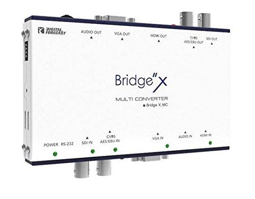 Digital Forecast Bridge X-MC Multi Converter Converts Input CVBS AES/EBU SDI VGA Component Analog Audio & HDMI to Output