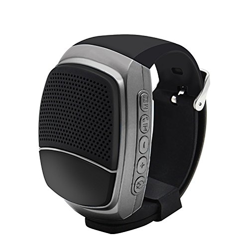 YouVogue Upgraded Multi-functional Bluetooth Watch Speaker: Mp3 Music Player (Dark Grey)