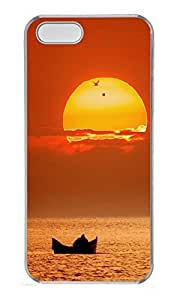 iPhone 5 5S Case Boating Sunset PC Custom iPhone 5 5S Case Cover Transparent