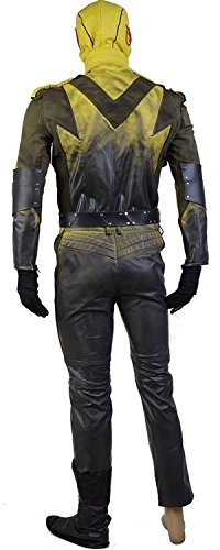 Reverse Flash Cosplay Costume Suit Cosplay Jumpsuit (Large) by caleshop (Image #2)