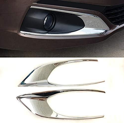 LIANGYUXIA 2 Stück ABS Spiegel Chrom Nebelscheinwerfer Box Cover Case Aufkleber Verkleidung Teil Zubehör Für Peugeot 301 2017