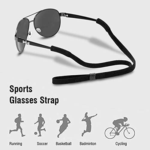 SUMAJU Sunglasses Holder Strap,6 Pieces Adjustable Sport Sunglass Straps Anti-Slip Safety Sunglass Holders for Women