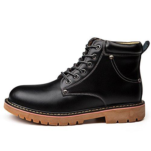 Männer - stiefel sind bequem und warm runde stiefel jugend casual schuhen,schwarz,39