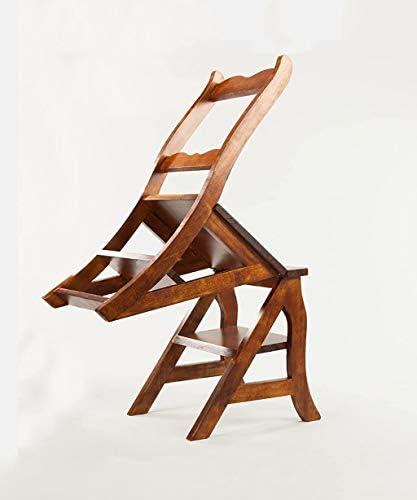 BXZ Échelle de chaise multifonction nordique créative pliable en bois massif chaise échelles escabeau tabourets de bibliothèque