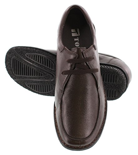 Toto T58501-2.6 Inches Taller - Height Increasing Elevator Shoes - Donkerbruine Casual Schoenen Met Moc-teen
