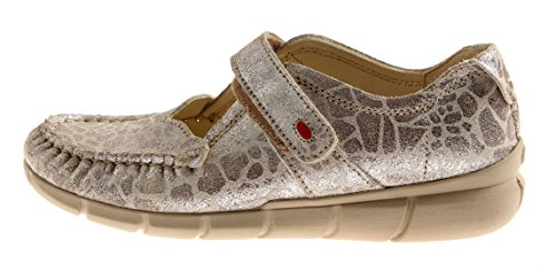 Wolky Bequeme Ballerinas Halbschuhe Leder Yukon Wechselfußbett Komfort Silber