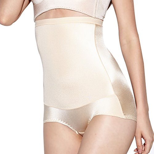 Women's Shapewear,High Waist Seamless Firm Control Waisted Tummy Slimming Body Shapewear (Small, Flesh Color)