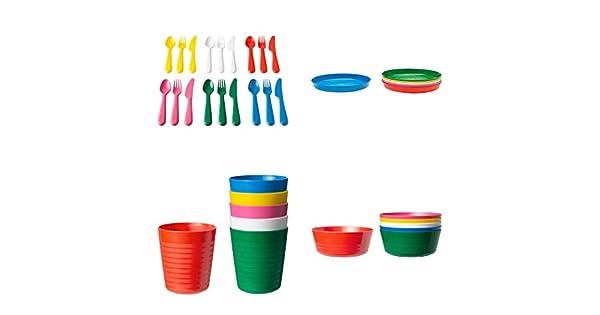 Amazon.com: IKEA Childrens kalas 36 Pieza de plástico ...
