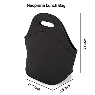 Lunch Bag Carry Case Container for Adults Kids Nurse Teacher Work Outdoor Travel Picnic, Leakproof Multi-purpose Lunch Organizer Neoprene Waterproof Handbag Portable Grocery Container with Zip Closure