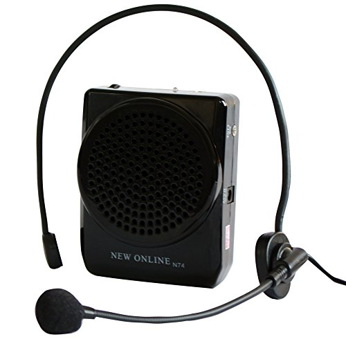 etvalley-voice-amplifier-rechargeable-with-waist-band-belt-clip-hand-free-headset-with-microphone-bl