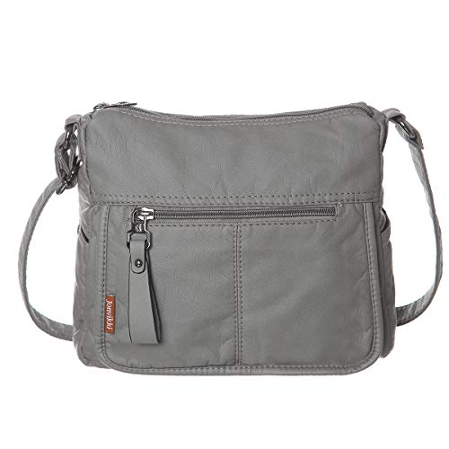 Jonvikki Large Crossbody Bags For Women Soft Synthetic Leather Crossbody Purse(Gray)