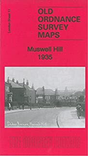 OLD ORDNANCE SURVEY MAP MUSWELL HILL 1913 ALEXANDRA PALACE FORTIS GREEN