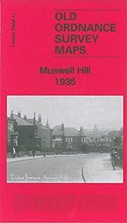 OLD ORDNANCE SURVEY DETAILED MAPS HIGHGATE LONDON 1913 Godfrey Edition New