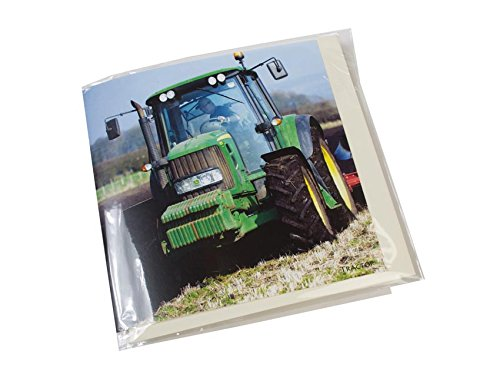 Noisy Tractor greeting card which plays engine sound when opened. Blank on the inside for any occasion. Envelope included. Powered by alkaline batteries which last 150+ openings - Battery Powered Card
