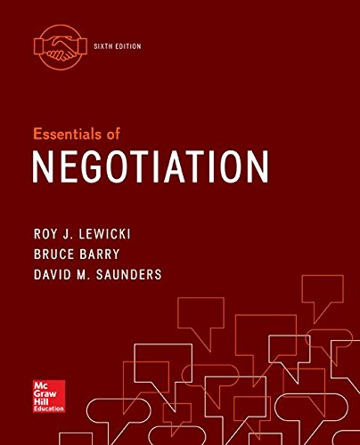 Essentials of Negotiation (Irwin Management)