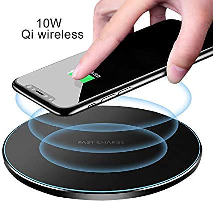 Fast Wireless Charging Stand,10W//7.5W//5W Compatible with iPhone Xs//XR//XS Max//8//8 Plus,Samsung Galaxy Note10//10+//S10//S10 Plus//S9//S9+//S8//S8+//S7//Note 9//Note8 NXET Wireless Charger Black