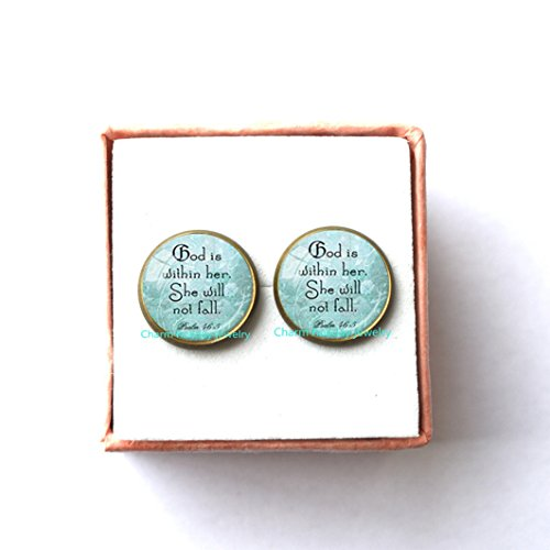 Psalm 46:5 Earrings Scripture Jewelry God Is Within Her Encouragement Earrings Quote Earrings Spiritual Jewelry Psalm Quote (Best Halloween Costumes Fails)