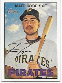 (Matt Joyce 2016 Topps Heritage High Number Pittsburgh Pirates Card #554)