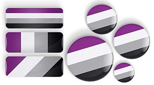 LGBTQIA Asexual Pride Flag pin badge button or fridge magnet