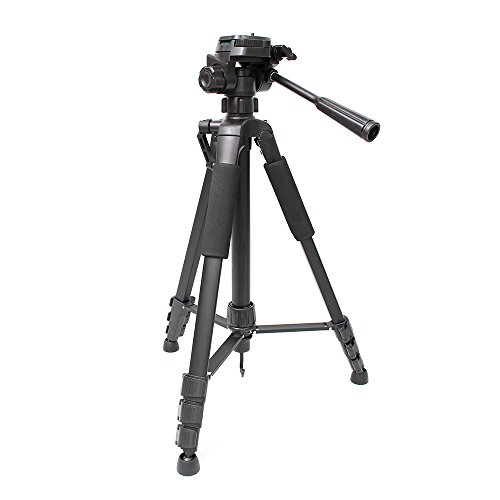 60-inch Portable Aluminum Camera Tripod, Lightweight Travel Cellphone Mount with Bag for DSLR Cameras, Mobile Phones, iPhone, Gopro - Ltn Bag