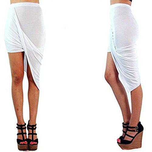 Buy belted faux wrap hi low dress - 3