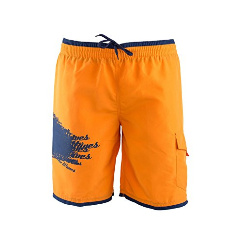 Just Cavalli Stretch Briefs - Just Cavalli Men Orange Blue Long Board Swim Shorts Side Pocket Trunks Swimsuit XXS US EU 44