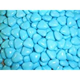 BLUE MINI HEART CHOCOLATE DRAGEES WEDDING FAVOURS X200