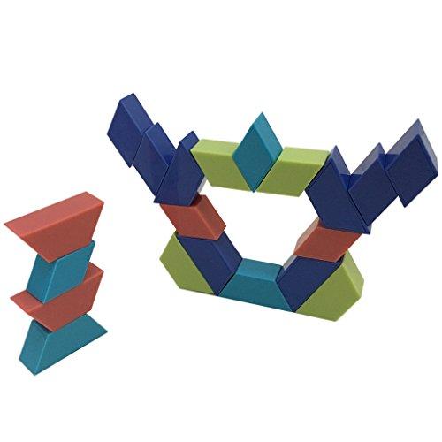 Bitopbi 20 Pieces Magnetic Toys Building Blocks Set
