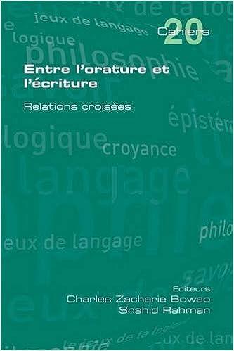 Livres Entre L'Orature Et L'Ecriture. Relations Croisees pdf