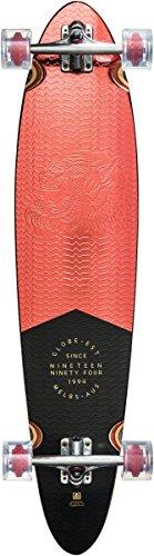 Longboard Pinner - GLOBE Skateboards Globe Pinner Classic Longboard Complete Skateboard, Red Foil, 40