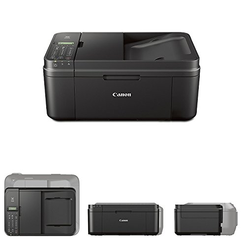 Canon all in one wireless printer, Inkjet PIXMA MX492 (Black) with Print, Copy, Scan, Fax & Google Cloud Print Compatible + USB Printer Cable + HeroFiber Cleaning Cloth by HeroFiber (Image #1)