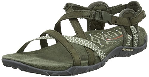 para Olive Olive Verde Lattice Dusty Abierta Dusty Mujer con Terran II Sandalias Merrell Punta AS6xZg0