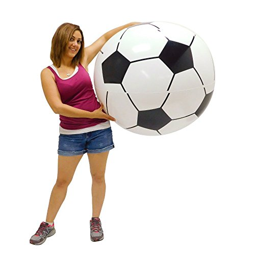 Inflatable Large Soccer Ball Pool Toy]()