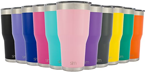 Simple Modern Cruiser Vacuum Insulated 30oz Tumbler - Double-Walled 18/8 Stainless Steel Hydro Travel Mug with Lid - Sweat Free Coffee Cup - Powder Coated Flask - Blush