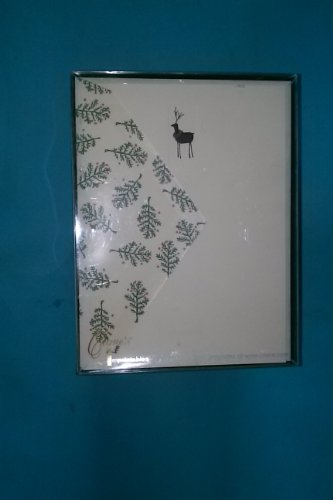 Crane & Co HC9428A 10 Notes 10 Envelopes 5 3/4'' x 7 11/16'' 100% Cotton Christmas Tree Imprint Lined Envelopes Reindeer Emblem Made in USA by Crane & Co.