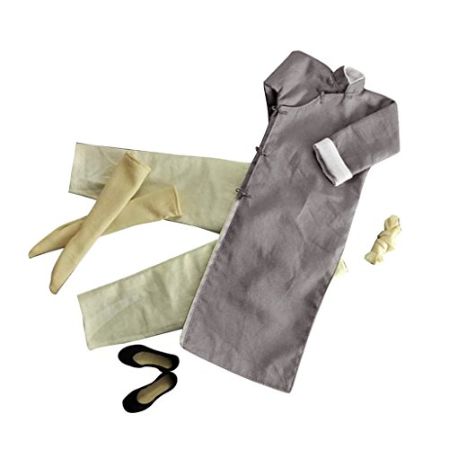 Lovoski 1/6スケール グレー 長袖 カンフースーツ ローブセット 12インチ フィギュアに適用 服 贈り物の商品画像
