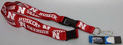 New! University of Nebraska Cornhuskers NCAA Detachable Key Chain ID Holder Lanyard