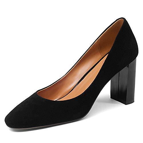 Black Chaussures Head Encolure à carrée Square pour Femmes SZ6w0qTpZ