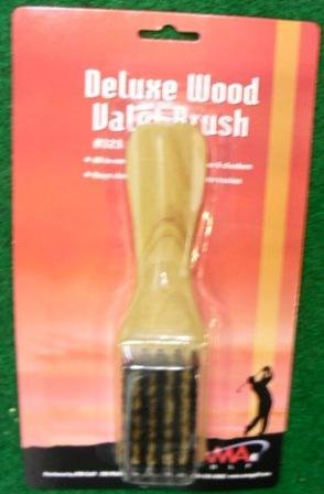 Wooden Valet Brush w/ Shoe Horn Handle & Spike Wrench