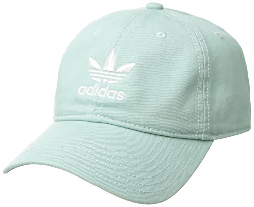 - adidas Men's Originals Relaxed Strapback Cap, Green/White, One Size