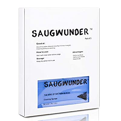 SAUGWUNDER Cleaning Sponge Super Absorbent Water Durable ^-^ 17.5×7.5×3.5 cm[6.9 x 3 x 1.38 inches] Use for Household Clean Cars/Boats The dust and Dirt on Furnitures,Bathtubs&etc. (Multicolor): Home & Kitchen