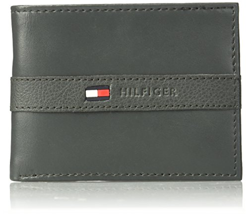 Tommy Hilfiger Men's Ranger Leather Passcase Wallet, Gray by Tommy Hilfiger
