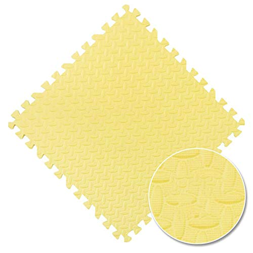 Fall In Love Multi-Color Baby Puzzle Mat 3030cm Kids Play Mat Puzzels Children's RugExercise Tiles Floor EVA Foam Game Gym Carpet Rug Toys,Yellow,12pcs