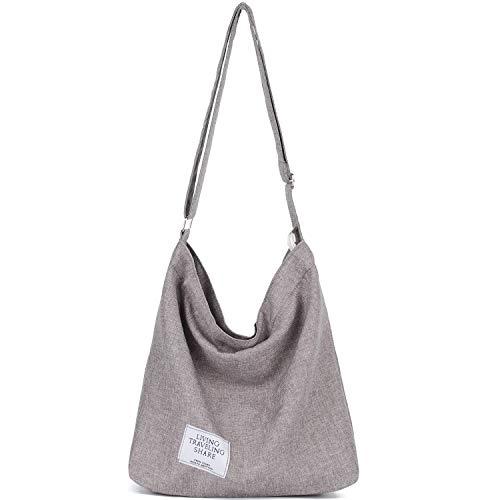 Canvas Hobo Bag Crossbody Shoulder Handbag Totes Purse for Women and Girls